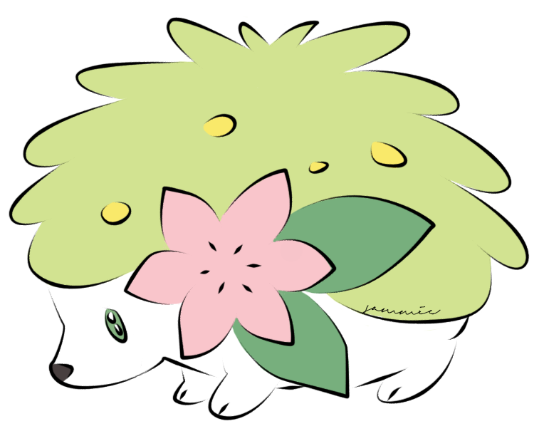 Shaymin Coloured by ensnarings