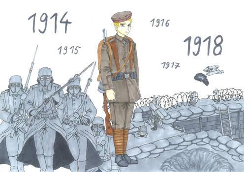 Der Stellungskrieg 1914-18 (the attrition warfare)