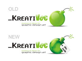 KreatiVec logo redesign by vec7