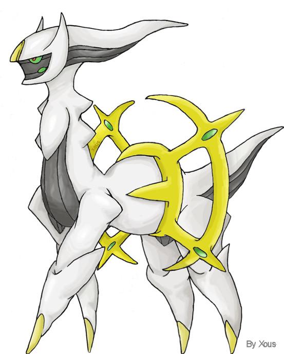 Arceus, the Alpha Pokemon. by Xous54