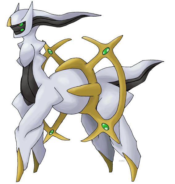 Official Pose of Arceus?