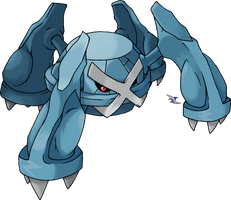 Metagross: Normal Coloration by Xous54