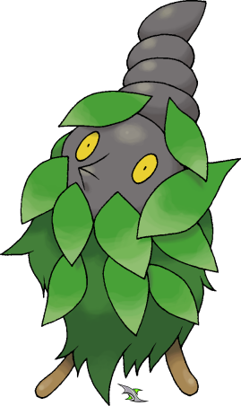 Burmy Plant Cloak by Xous54