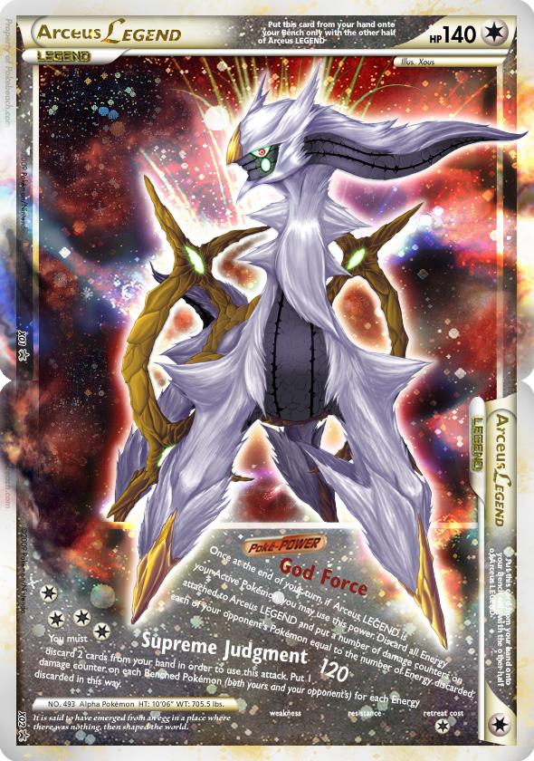 Arceus LEGEND Fake Card by Xous54 on DeviantArt