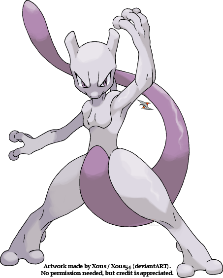 Mewtwo v.4 by Xous54