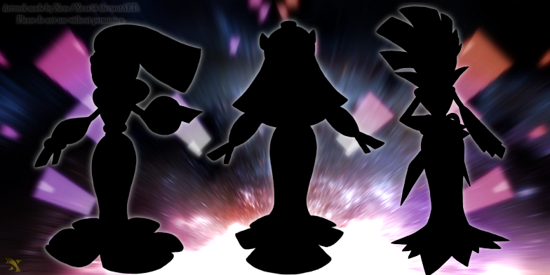 Legendary Trio Silhouettes by Xous54