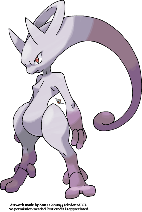 Pre-Reveal Art of Mega Mewtwo Y by Xous54