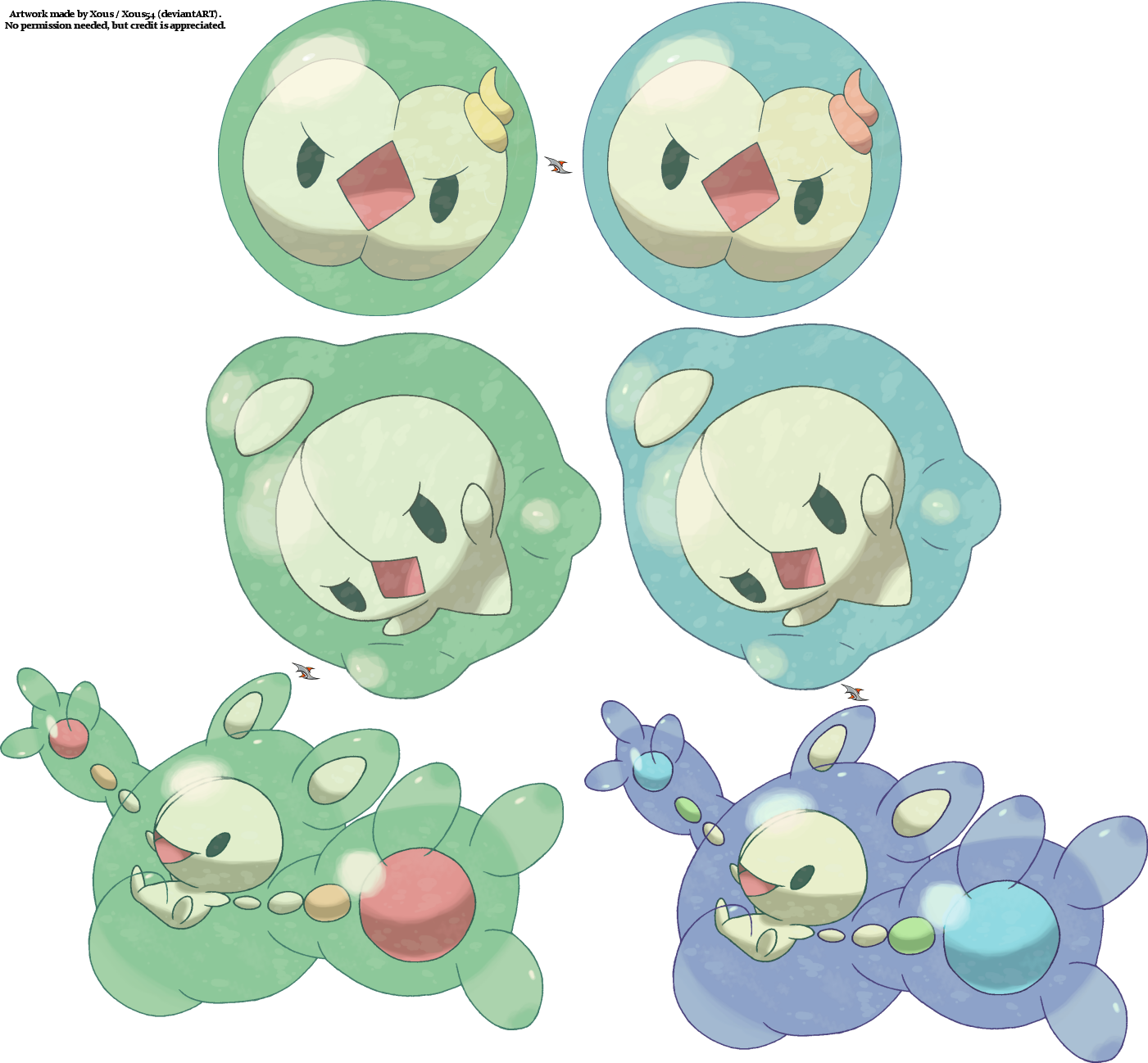 Duosion Pokemon Coloring Pages