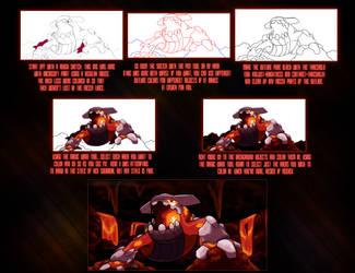 Heatran: Caldera by Xous54