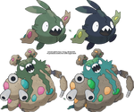 Trubbish and Garbodor v.2 by Xous54