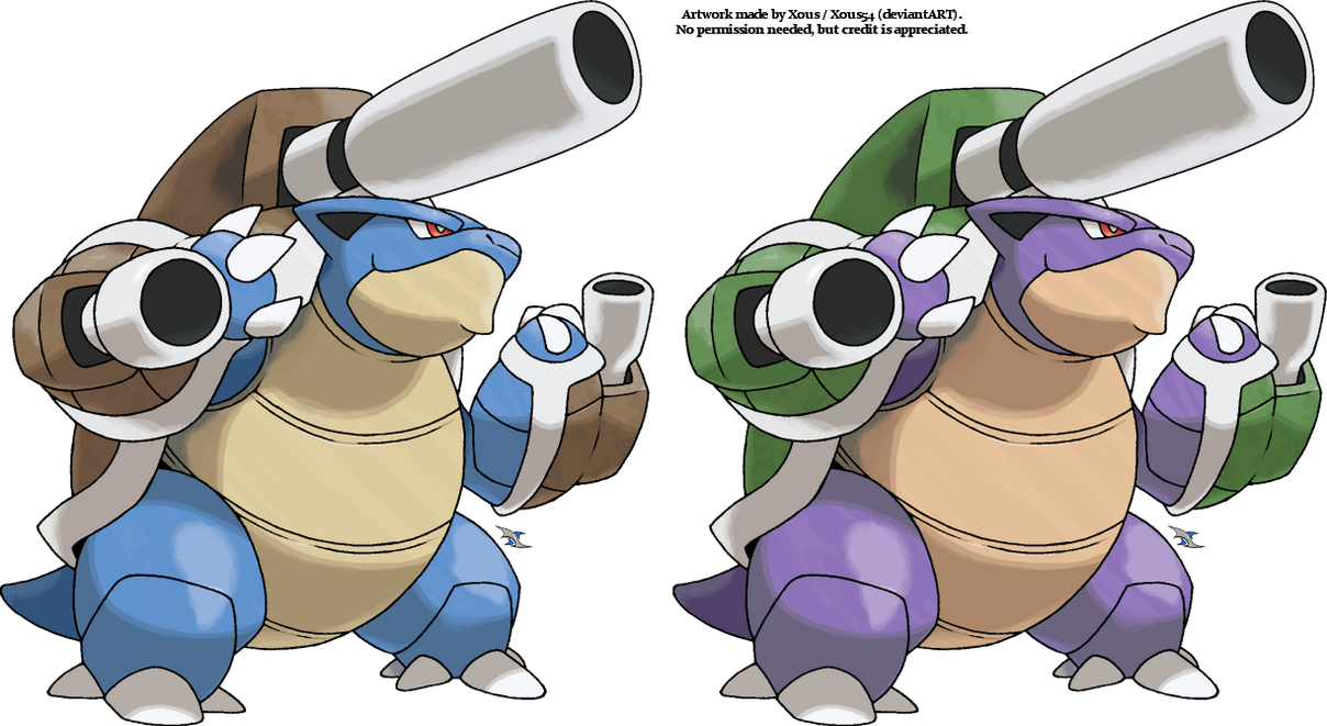 Mega blastoise by xous54 on deviantart - Pokemon tortank mega evolution ...