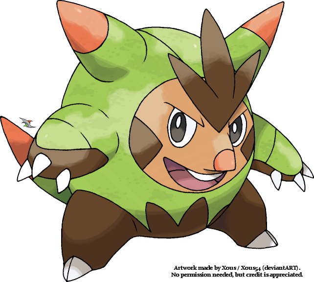 Pokemon X And Y Chespin Evolution Quilladin by Xous54 on...
