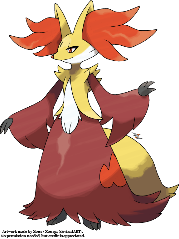 Delphox by Xous54
