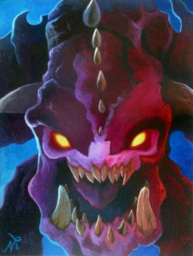 DOOM Pinky Demon by Xous54