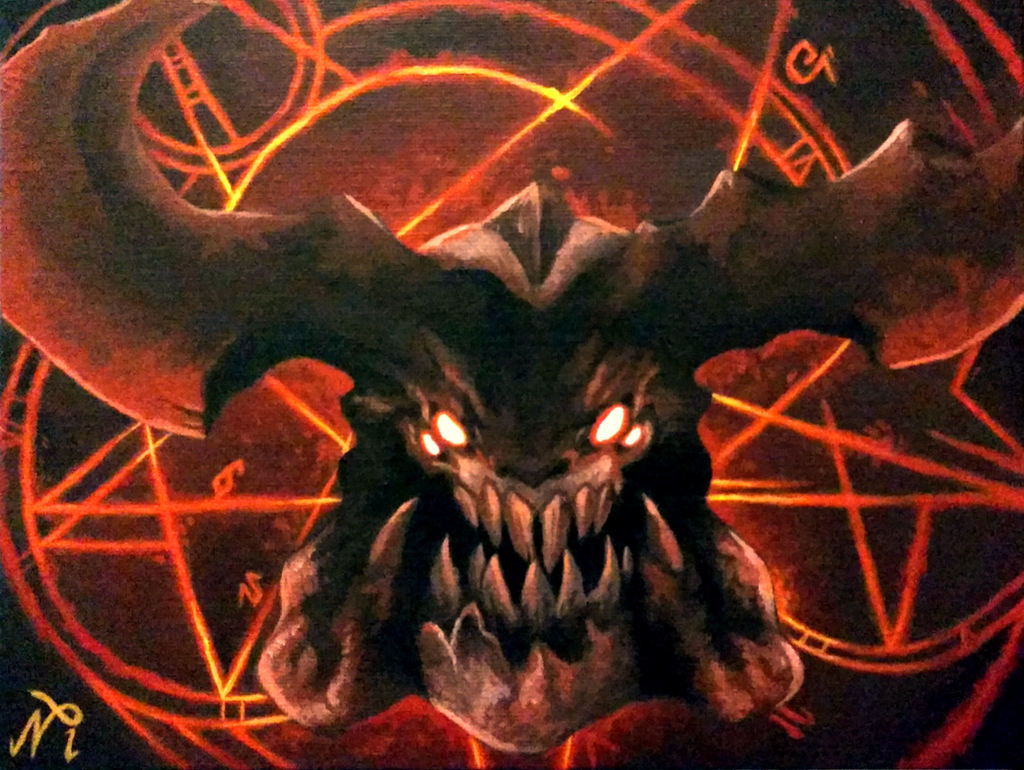 DOOM Cyberdemon Painting by Xous54
