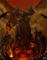 DOOM Kadingir Sanctum Painting