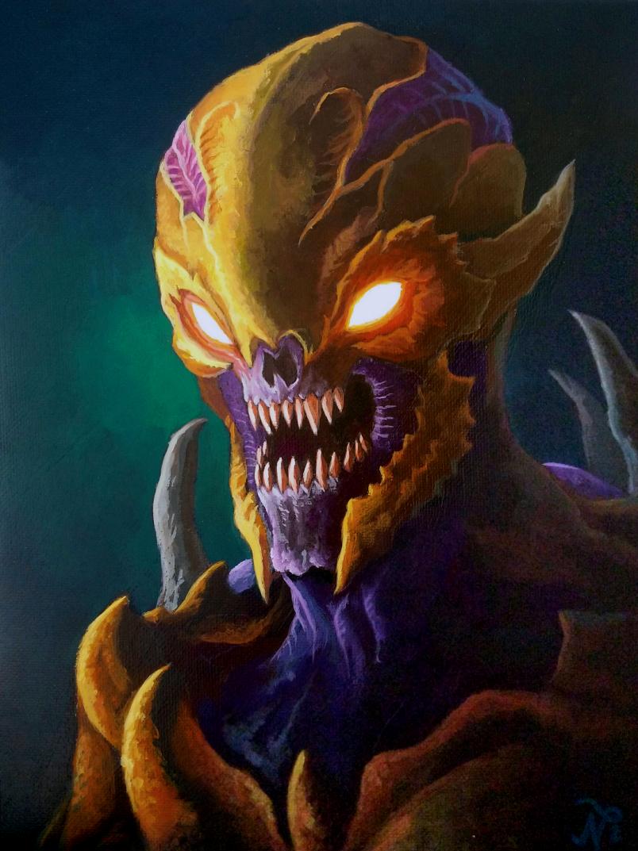 DOOM Imp Painting 2 by Xous54