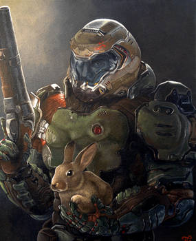 Doom Slayer and Daisy
