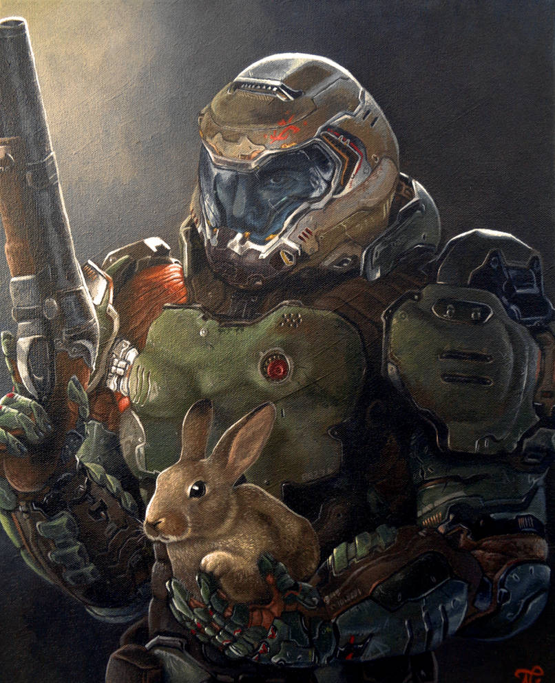 Doom Slayer and Daisy by Xous54