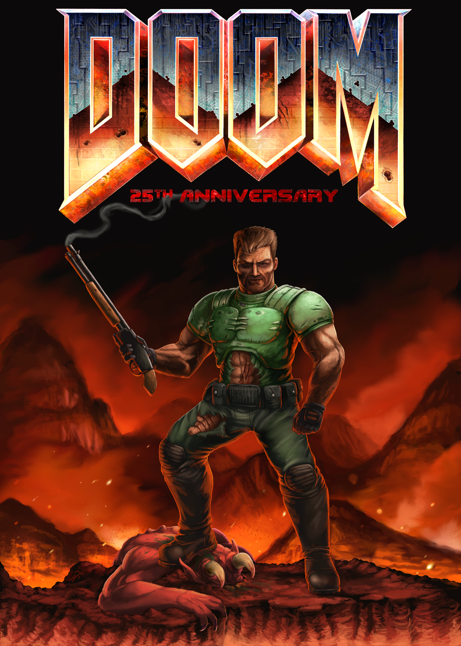 DOOM 25th Anniversary by Xous54