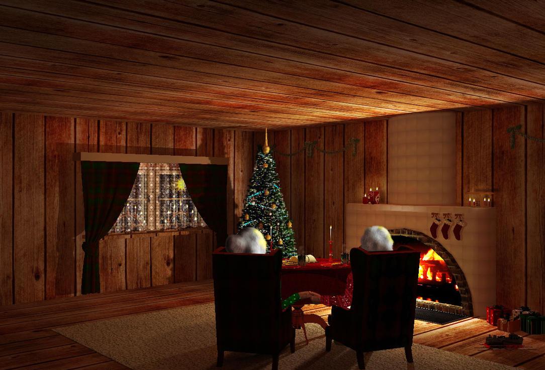 Santas home by teufelchenonline