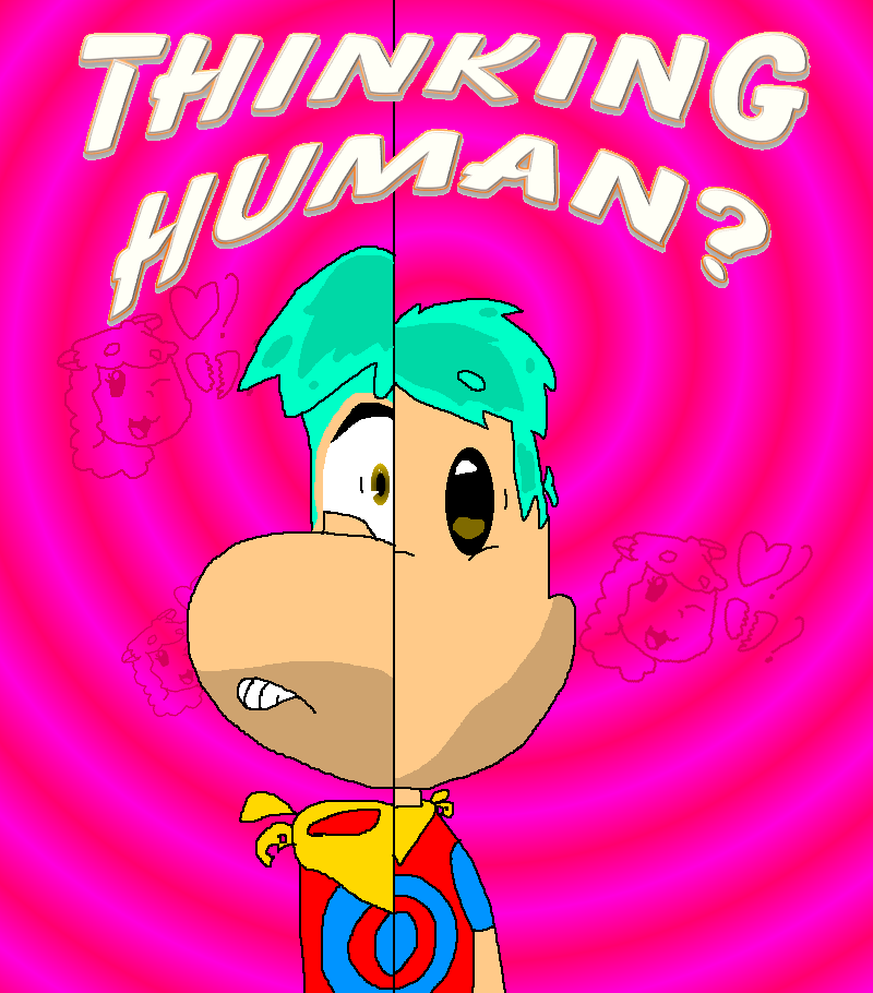 Thinking Human Cover by JohnTheRayperson
