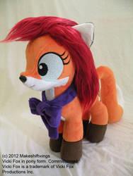 Vicki Fox Pony Plushie by makeshiftwings30
