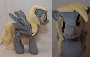 Scrunchy-Face Derpy Hooves Plushie by makeshiftwings30