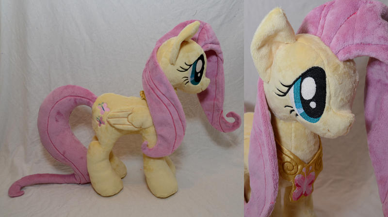 Fluttershy Plushie with Element of Harmony by makeshiftwings30