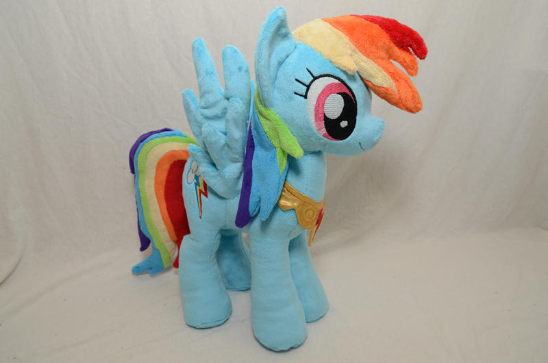 Rainbow Dash with Element of Harmony Plush by makeshiftwings30