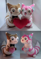 My Dearest Furret Plushies by makeshiftwings30