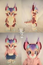 Peachy the Dinocat Plush