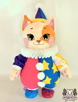 Tidbit the Clown Cat Plush