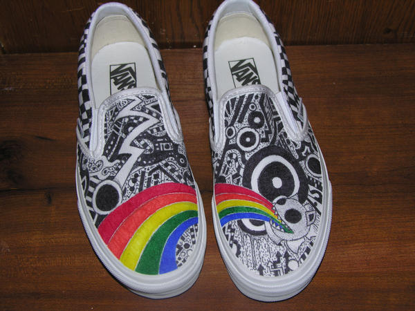 How To Custom Paint Vans Shoes