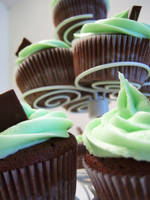 St. Patrick's Day Cupcakes by dashedandshattered