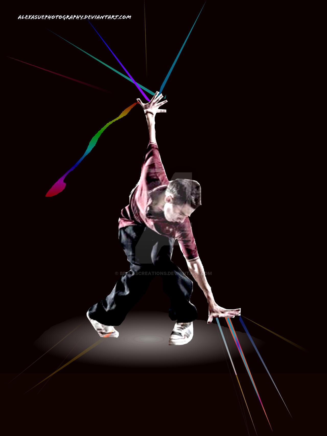 Hip hop dancer by Bellasartbook