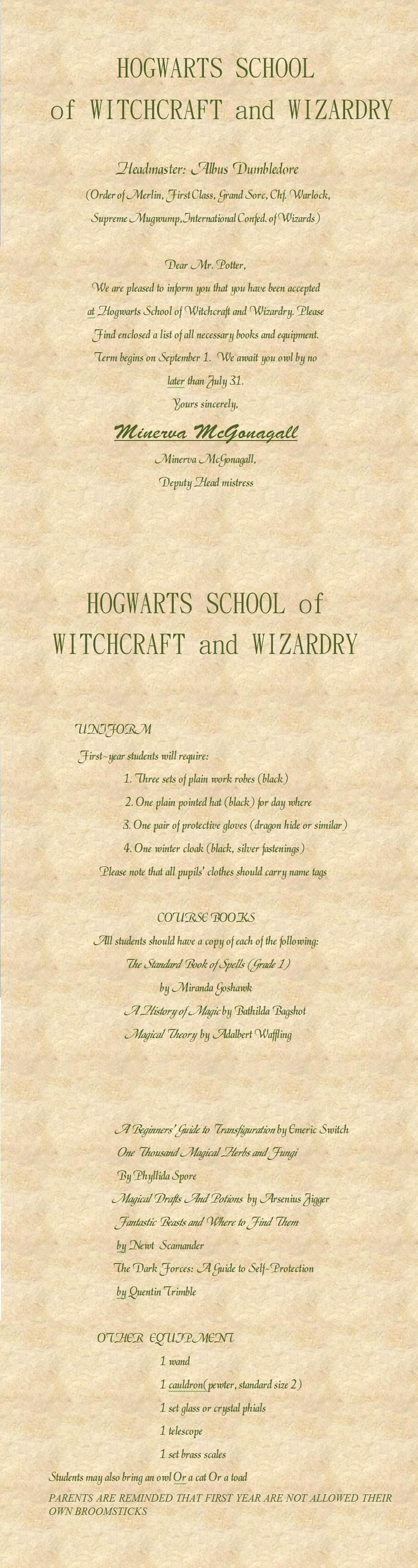 Printable Harry Potter Letter by jessie-elf on DeviantArt