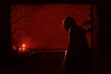 A candle is lit by shiiso-tikku