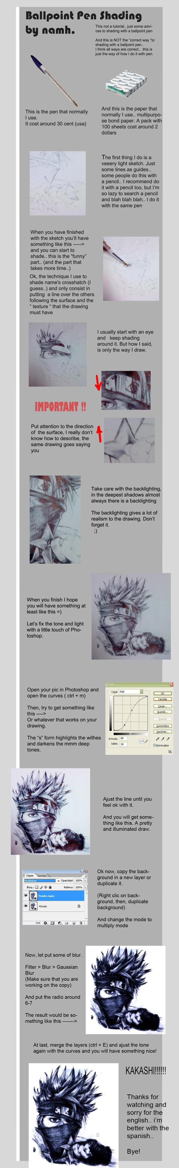 Ballpoint pen Shading tutorial by Namh