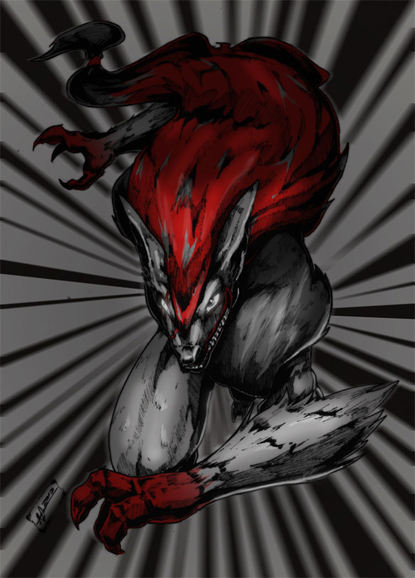 Zoroark in extreme-speed by Namh