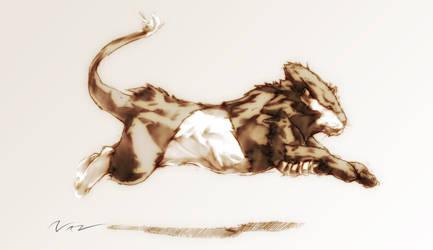 Big Cat running by Namh