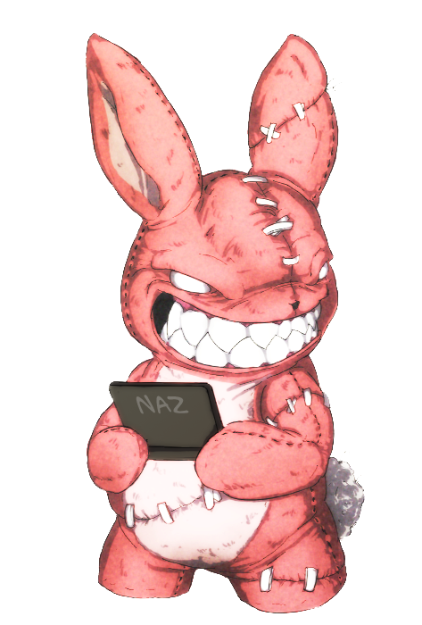 Zombie Bunn with DS yey by Namh