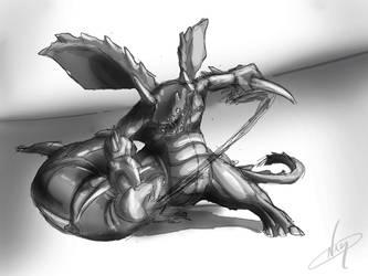 Druddigon vs Haxorus by Namh