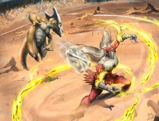 Bone Rush VS Blaze Kick by Namh