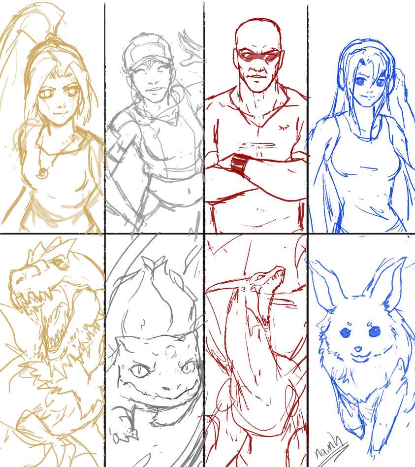 Princess team2 sketch by Namh
