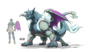 Dragon Splatterhouse (Commission) by Namh