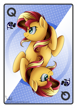 Queen of Clubs - Sunset Shimmer