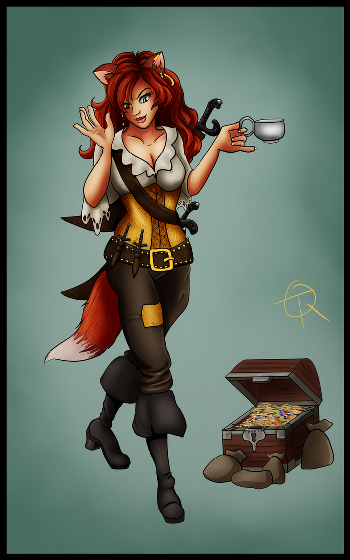 Ruthless Pirate Leader, Captain Quill by LordWolx