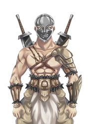 The Butcher of Gigan Coliseum by LordWolx
