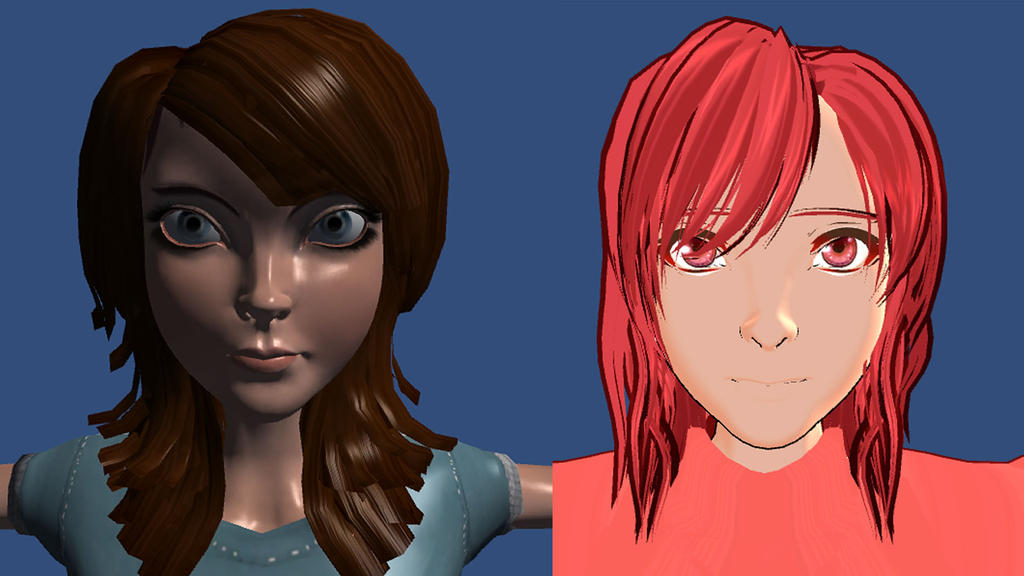 Unity Engine Toon Shader Female Test by Alexanderdl on DeviantArt